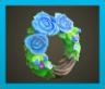 あおいバラのリース画像