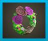 ダークなバラのリース画像