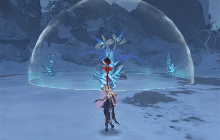 霜に覆われた奇跡の樹に挑戦しエッセンスを集める