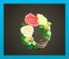 バラのリース画像
