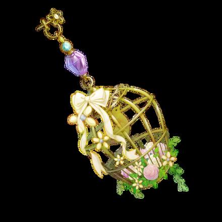 鳥籠の耳飾りの画像
