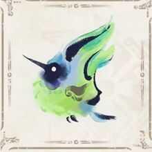 緑ヒトダマドリ