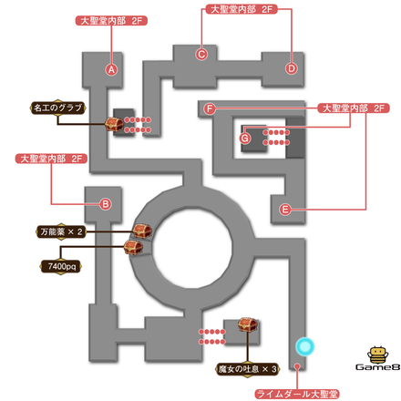 大聖堂内部マップ