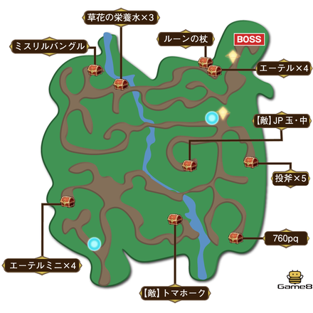 深緑の樹林マップ