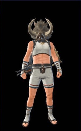 Bullfango Mask Layered Armor Piece (Separate) (Hunter)