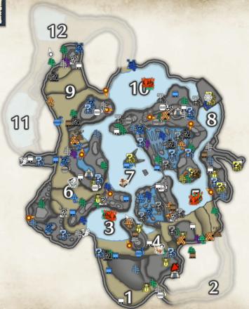 モンハンライズ】寒冷群島のサブキャンプの場所と鉱脈|マップ【MHRise】|ゲームエイト