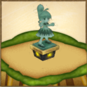 ビスケの像