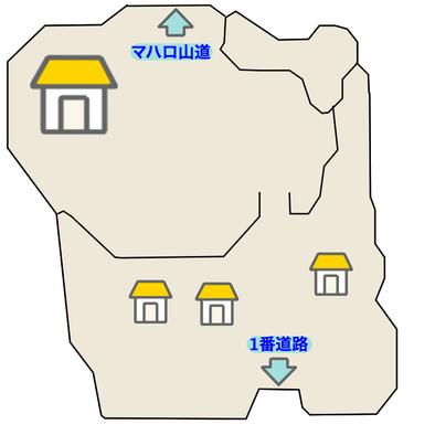 リリィタウンのマップ画像