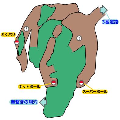 メレメレの花園のマップ画像