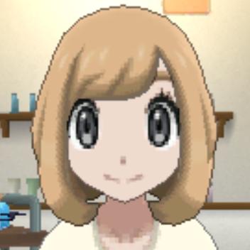 髪型ライトベージュの画像