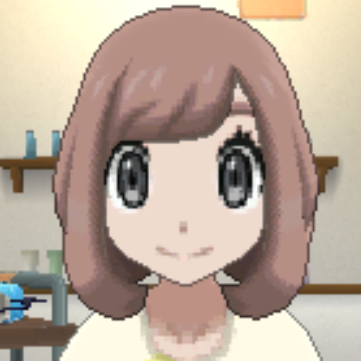 髪型はピンクブラウンの画像