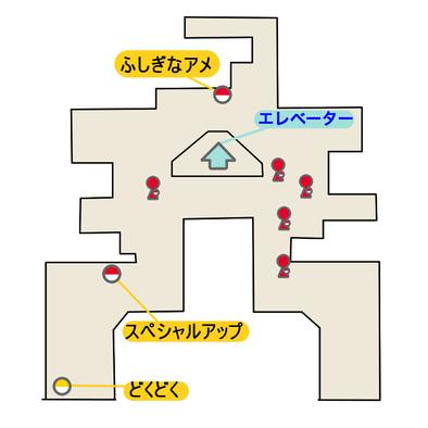 エーテルパラダイスの船着き場のマップ