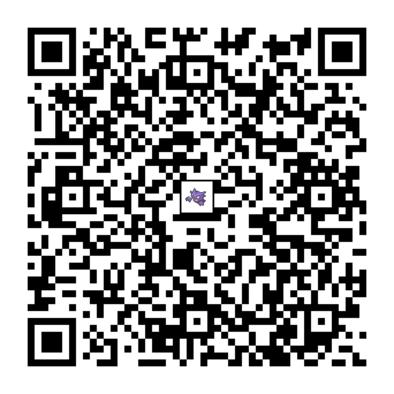 ゴーストのQRコードの画像