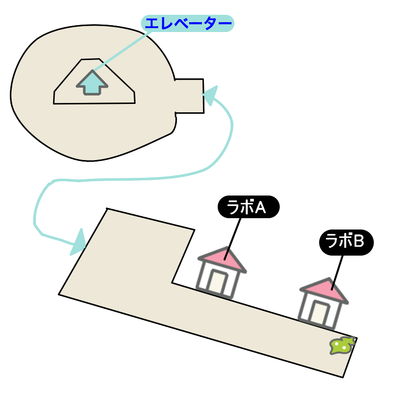 エーテルパラダイスのラボのマップ