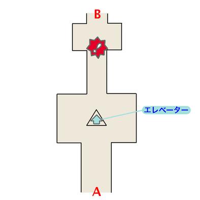 エーテルパラダイスのエントランスのマップ