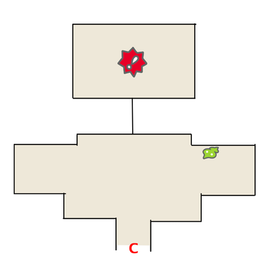 エーテルパラダイスの奥の屋敷のマップ