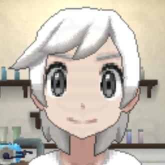 髪色ホワイトの画像