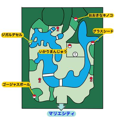 マリエ庭園のマップ画像