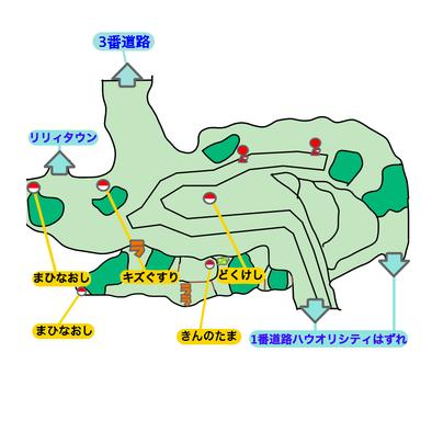1番道路のマップ画像