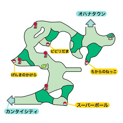 4番道路のマップ画像