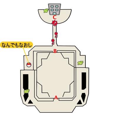 エーテルパラダイス外観のマップ画像