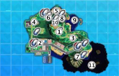 メレメレ島のマップ画像