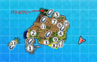 ポニ島のマップ画像
