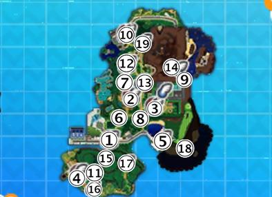 アーカラ島のマップ画像
