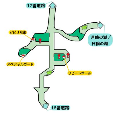 ウラウラの花園のマップ画像
