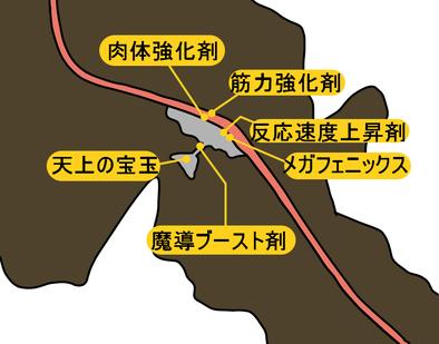 テネブラエのマップ画像