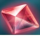 赤の結晶の画像