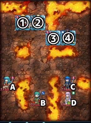 縛鎖の第11迷宮:第1ステージのマップ画像
