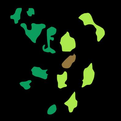 モンハンダブルクロス森丘のマップ