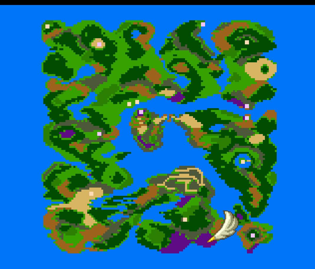世界地図から見たロトのしるしの場所