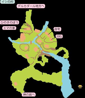 イシの村のマップ
